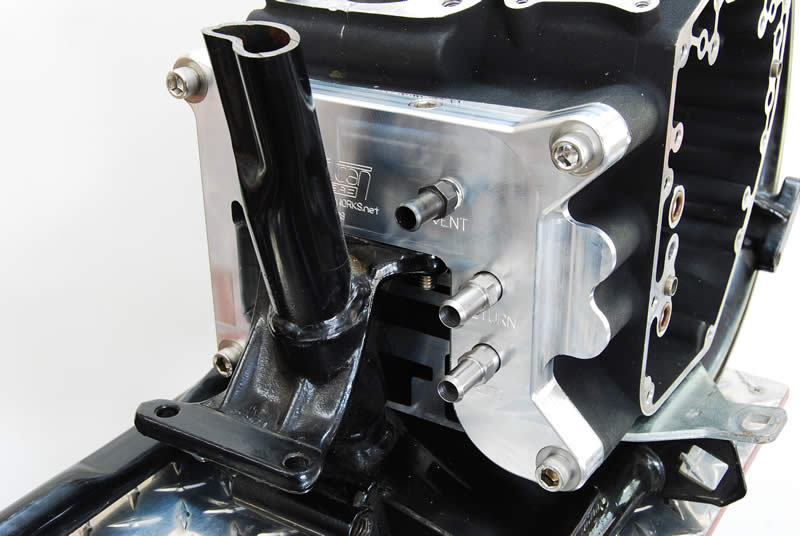 Chrome Transmission Mounting Plate Kit,for Harley Davidson,by V-Twin
