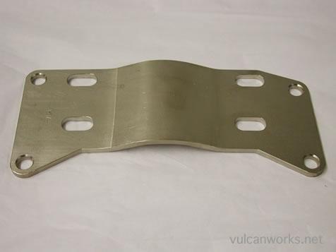 Chrome Transmission Mount Plate Knucklehead Panhead Shovelhead 4 Speed Harley