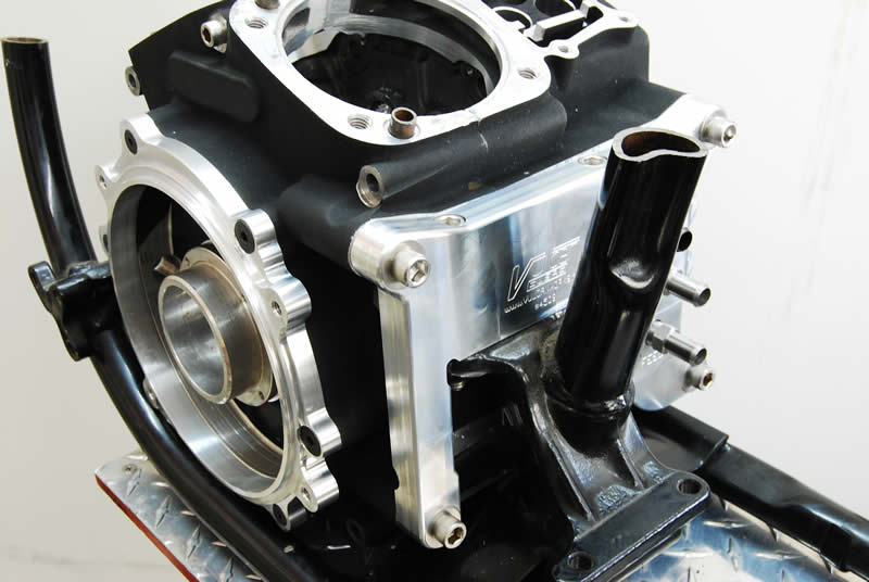 2006+ Twin Cam 96,103,110,120R Motor to EVO Frame Adapter Plate