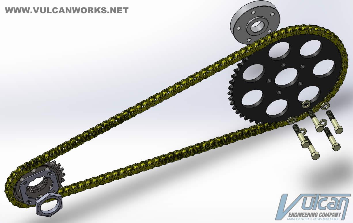 Softail Chain Conversion Kit, 2008-2017 6 Speed