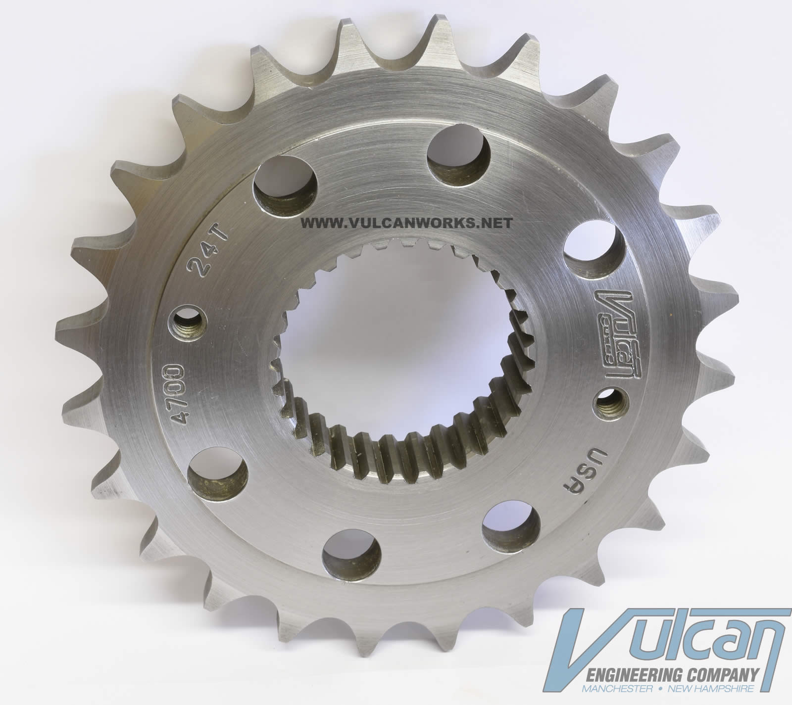 Chain Conversion Sprocket for 6 Speed Harleys, 24 Tooth, 3/8 Offset