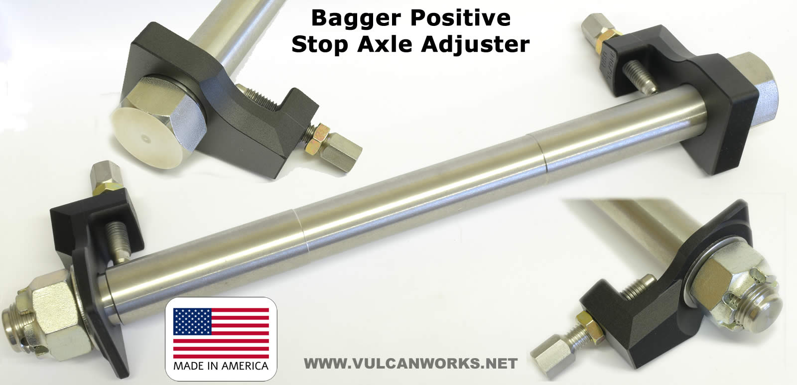Positive Stop Axle Adjuster for 2002-up Touring Harleys