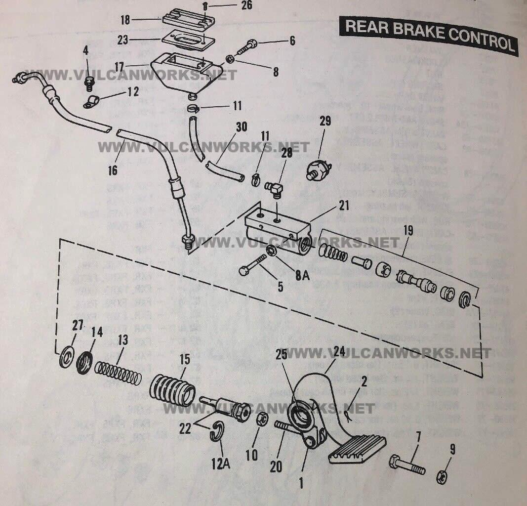 Brake Master Cylinder Fitting, Rear, FXR & FLT
