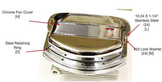 Xzotic Panhead Chrome Pan Cover-Short [H]