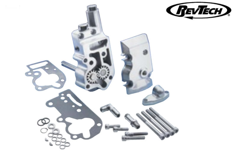 Revtech Polished Oil Pump Assembly for 1936-72 Big Twin