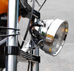 Chrome/Black Aluminum Headlight