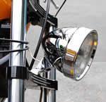 Chrome/Black Aluminum Headlight