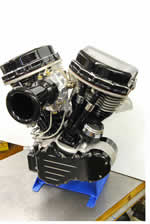 93ci Black Panhead Engine