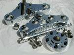 39mm Mid Glide Triple Tree Conversion Set- Chrome
