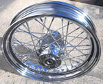"16"" Rear Wire Wheel, Chrome, Harley 40 Spoke"